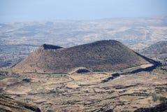 volcan de verde de fogo de cratère de cabo de l'Afrique Photographie stock libre de droits