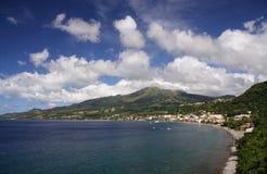 Volcan des Caraïbes Photos libres de droits