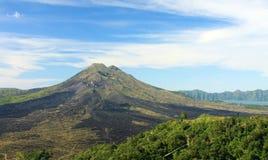 Volcan et lac Bali 04 de Batur de bâti Images libres de droits