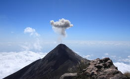 Volcan Fuego (Fire volcano) erupts, Guatemala Royalty Free Stock Images