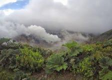 Volcan Irazu или вулкан Irazu в Cartago, Коста-Рика стоковые изображения