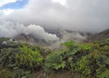 Volcan Irazu of Irazu-Vulkaan in Cartago, Costa Rica stock afbeeldingen