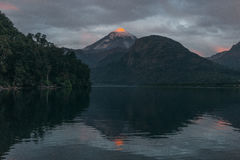 Volcan Lanin stock photography