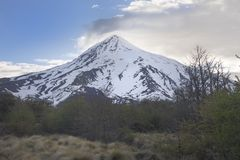 Volcan Lanin, Patagonia, Argentina Fotografie Stock Libere da Diritti