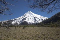 Volcan Lanin, Patagonia, Argentyna Zdjęcia Royalty Free