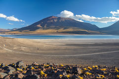 Volcan Licancabur with Gorgeous landscapes of Sur Lipez, South B Stock Images