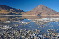 Volcan Licancabur with Gorgeous landscapes of Sur Lipez, South B Royalty Free Stock Photos