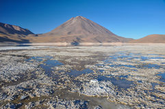 Volcan Licancabur with Gorgeous landscapes of Sur Lipez, South B Stock Photography