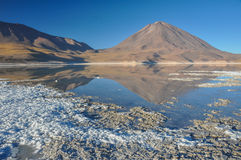 Volcan Licancabur with Gorgeous landscapes of Sur Lipez, South B Stock Image