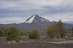 Volcan Llaima w Conguillo nacional parku, Chile Zdjęcie Royalty Free
