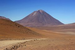 Volcan Llicancabur – Bolivia. This image was shot  in the highlands of Bolivia on route to Chile and shows the Volcan Llicancabur Royalty Free Stock Photo