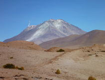 Volcan ollaque at bolivian altiplano Royalty Free Stock Photo