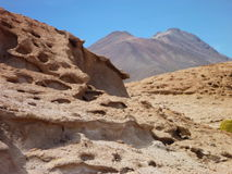 Volcan ollaque at bolivian altiplano Royalty Free Stock Photography
