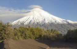 Volcan Osorno, Chile. El Volcan Osornos se encuentra en la region de Los Lago, Chile Stock Photo
