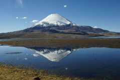 Volcan Parinacota, Northern Chile Stock Photo