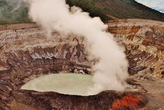 Volcan Poas Costa Rica Royalty Free Stock Photo