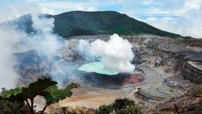 Volcan Poas kust Rica Royaltyfri Fotografi
