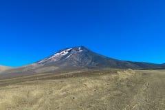 Volcan skłon zakrywający z popiółem Obrazy Royalty Free