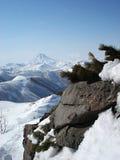 Volcanes de la península de Kamchatka Fotografía de archivo libre de regalías