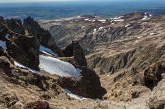 Volcanes de las montañas Fotografía de archivo libre de regalías
