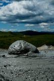 Volcanes del fango imagenes de archivo