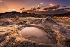 Volcanes del fango Fotografía de archivo libre de regalías