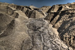 Volcanes del fango fotografía de archivo
