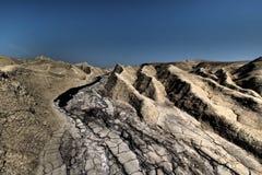 Volcanes del fango imagen de archivo