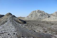 Volcanes del fango de Qobustan Foto de archivo