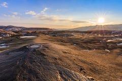 Volcanes del fango, Rumania Fotografía de archivo libre de regalías
