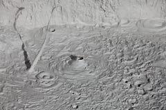 Volcanes del fango y conos del fango Imagen de archivo libre de regalías
