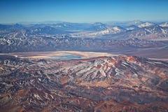 Volcanes en el desierto de Atacama, Chile Imágenes de archivo libres de regalías
