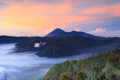 Volcanes en el parque nacional de Bromo Tengger Semeru Fotos de archivo