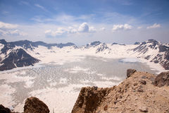Volcanic,tianchi, changbaishan. Heaven Lake of Changbaishan, locate in china Royalty Free Stock Photos