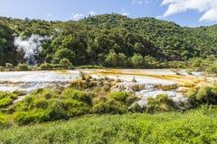 Volcanic activities at waimangu Royalty Free Stock Image