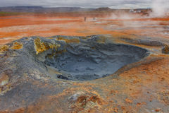 Volcanic activity as hot springs on Iceland, summer time Royalty Free Stock Photography