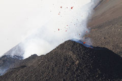 Volcanic activity Royalty Free Stock Image