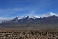 Volcanic Area in the Andes Stock Images