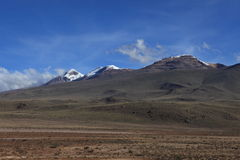 Volcanic Area in the Andes Royalty Free Stock Photography