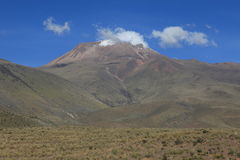 Volcanic Area in the Andes Stock Image