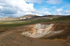 Volcanic area Krafla, near Viti crater, Iceland Stock Images