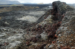 Volcanic area of Krafla, north of Iceland Royalty Free Stock Images