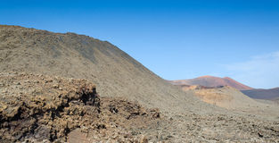 Volcanic area on Lanzarote Stock Photos