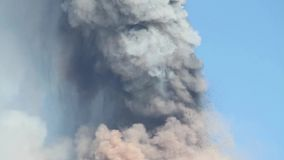 Volcanic ash cloud stock video