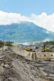 Volcanic ash mining Indonesia Stock Photography