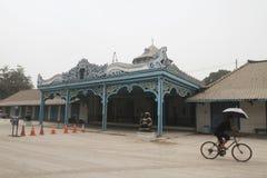 Volcanic ash from mount kelud eruption covered surakarta palace Stock Images