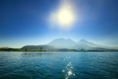 Volcanic Atitlan Lake in Guatemala Royalty Free Stock Photos