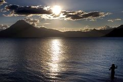 Volcanic Atitlan Lake in Guatemala Stock Photography