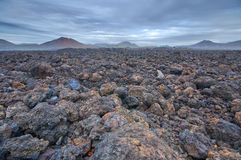 Volcanic barren landscape Stock Image