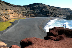 Volcanic beach Royalty Free Stock Photography